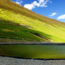 Treatment pond at Force Crag mine, near Keswick, Cumbria