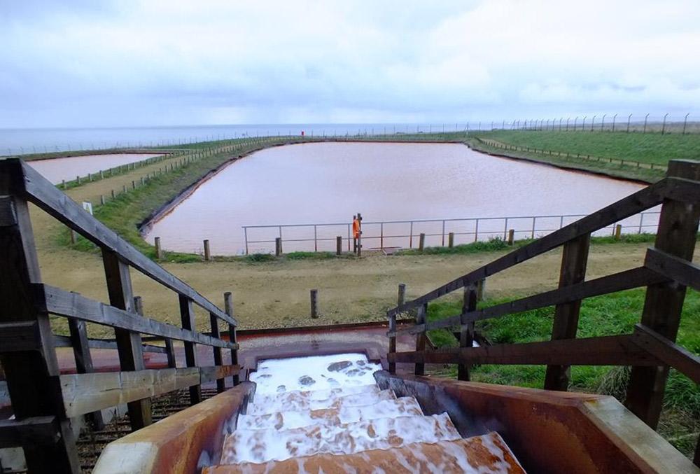 Settlement lagoon at Horden mine water treatment scheme