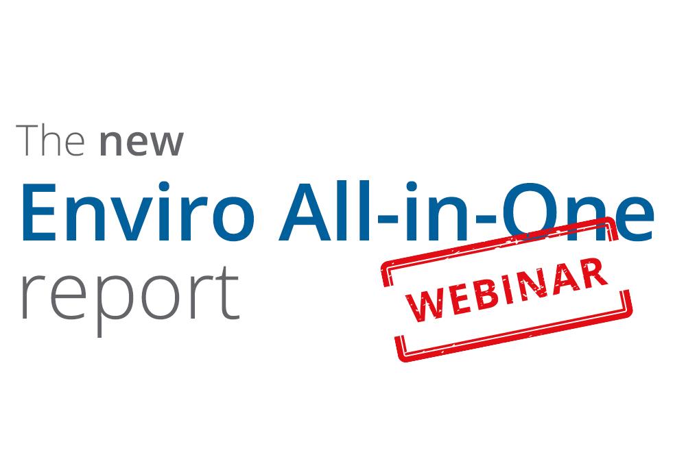 New Enviro-all-in-one report webinar