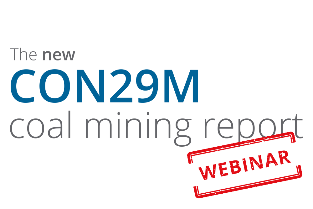 The new CON29M coal mining report webinar