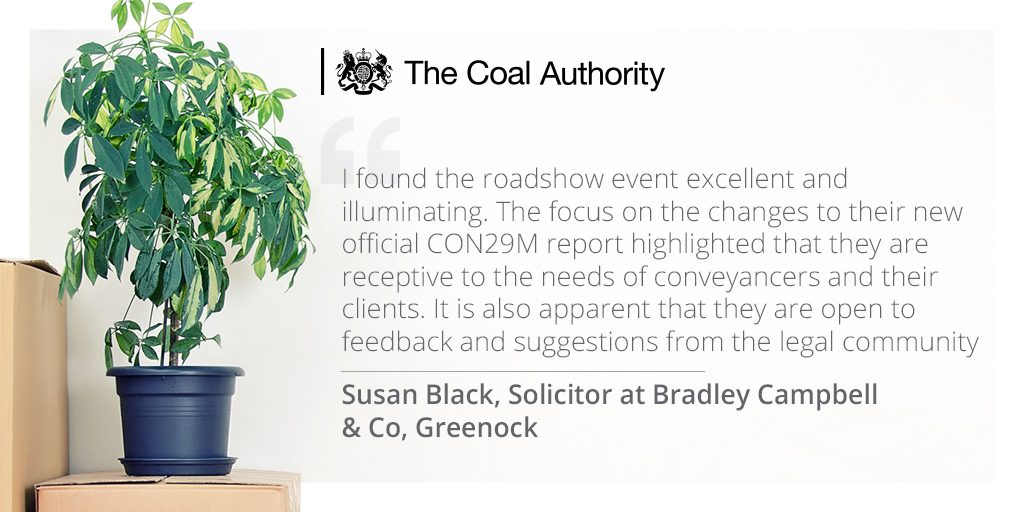 Testimonial about the Coal Authority roadshow event