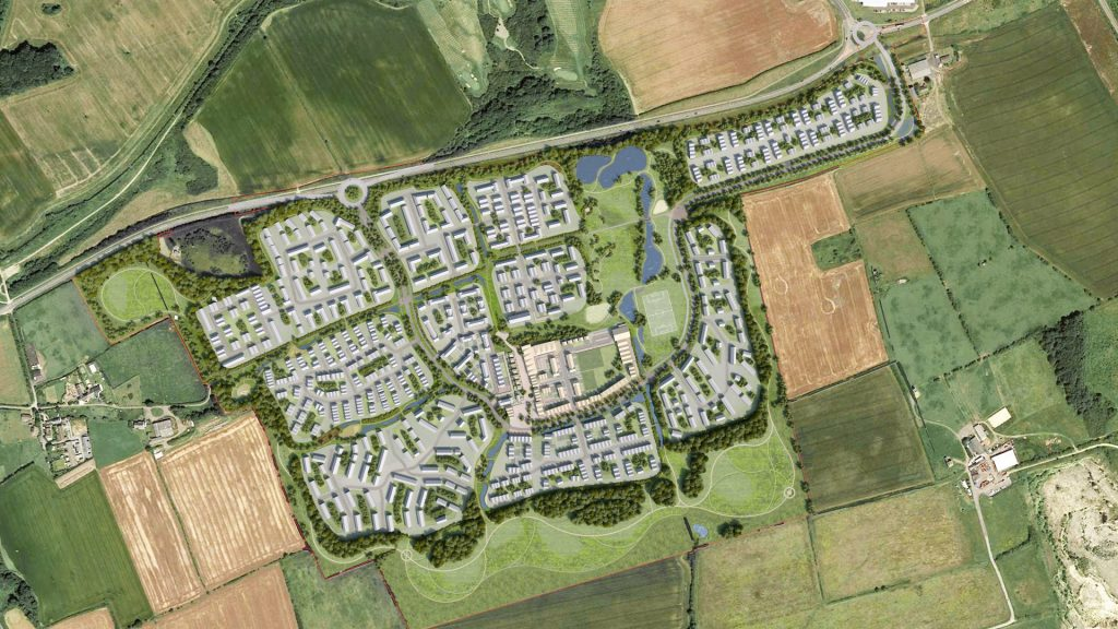 The proposed Seaham Garden Village development