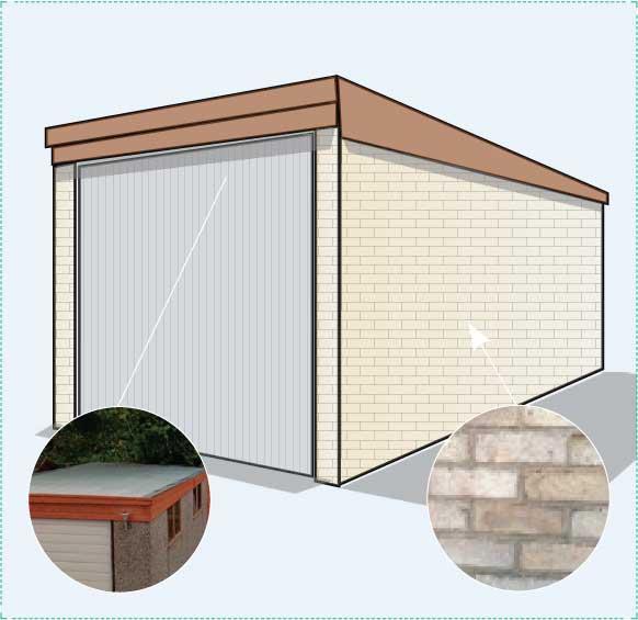 Option B: brick garage
