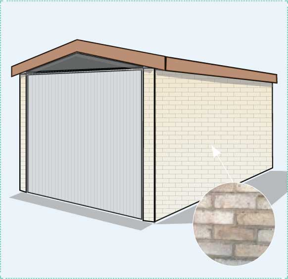 Option C: brick garage with pitched roof
